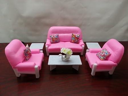 Amazon.com: Barbie Doll Size Gloria Living Room Play Set: Toys & Games