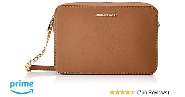 Michael Kors Women s Jet Set Crossbody Leather Bag - Acorn  Handbags   Amazon.com f69a0d914a8df