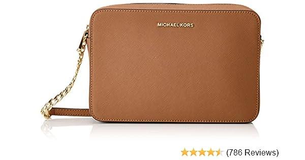 e0d270e7c Michael Kors Women's Jet Set Crossbody Leather Bag - Acorn, Acorn, Size One  Size: Handbags: Amazon.com