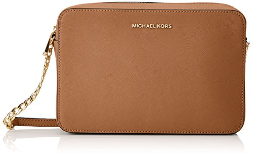 Michael Kors Women's Jet Set Crossbody Leather Bag - Acorn, Acorn, Size One Size