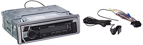 Kenwood KMR-D368BT CD/MP3 Marine Stereo Receiver with Bluetooth (Kenwood Cable Aux)