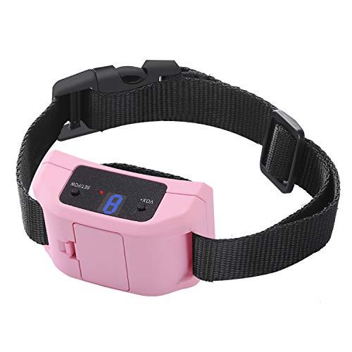 Bark Collar [2019 Newest Automatic ] Stop Dogs Barking Fast/Vibration/Control Barking/Battery Anti bark Collar/Adjustable Collarfor Small, Medium, Large Dogs(Pink)