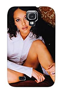 New Arrival Galaxy S4 Case Jessica Alba On The Bed At Night Case Cover