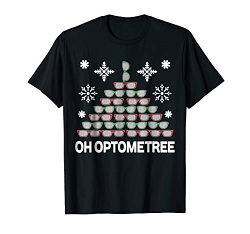 Funny Optometrist Christmas Tree Optometree Shirt Optician