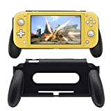 BRHE Hand Grip Case Compatible for Nintendo Switch Lite Console Ultralight Hard Cover Protector Gamming Handle Holder Designed to Reduce Hand Fatigue Back Cover - Black