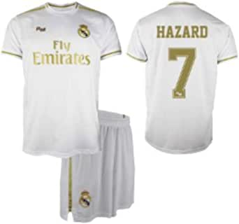 Conjunto Camiseta y pantalón 1ª equipación del Real Madrid 2019-20 - Replica Oficial con Licencia - Dorsal 7 Hazard