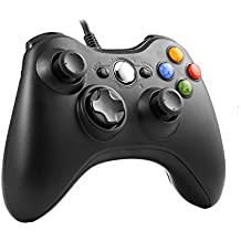 Wired Controller for Xbox 360, TGJOR USB Wired Game Controller Gamepad Joystick with Shoulders Buttons for Microsoft Xbox / Slim 360 PC Windows PC (Black)