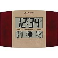 Reloj de pared digital WS-8117U-IT-C de La Crosse Technology, con temperatura y fase lunar