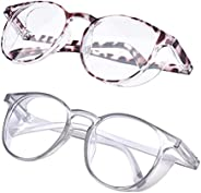 Outray 2 Pairs Anti Fog Safety Goggles Protective Glasses Blue Light Blocking Eyeglasses for Men Women