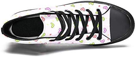 TIZORAX DEYYA Hoge Top Sneakers voor Mannen Gekleurde Hart en stippen afdrukken Mode Lace up Canvas Schoenen Casual wandelen schoen