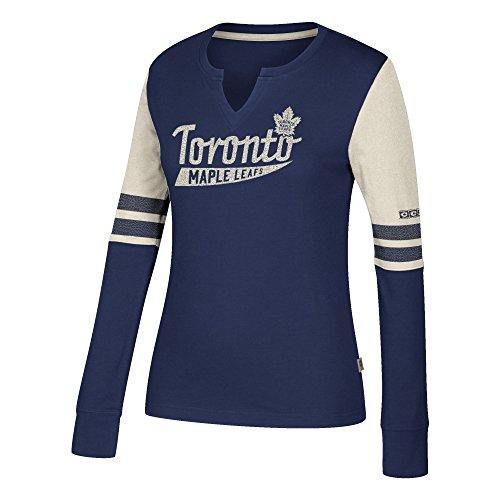 NHL Toronto Maple Leafs Ccm Henley Tee, Dark Blue, Large