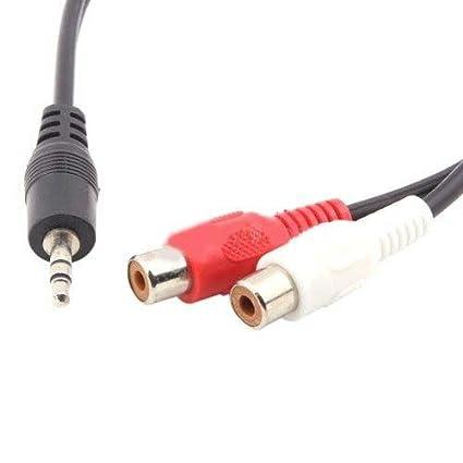 3,5 mm AUX auxiliar Cable adaptador 2 RCA hembra MP3