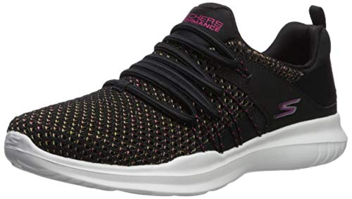 Skechers Women's GO Run MOJO-15113 Sneaker, Black/Multi, 9.5 M US