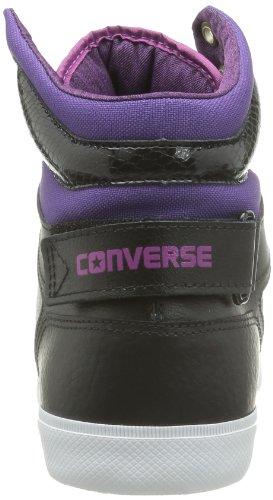 Converse All Star 12 Leath Mid 236120-52-83 - Zapatillas para mujer Negro (Noir (Noir/Vert))