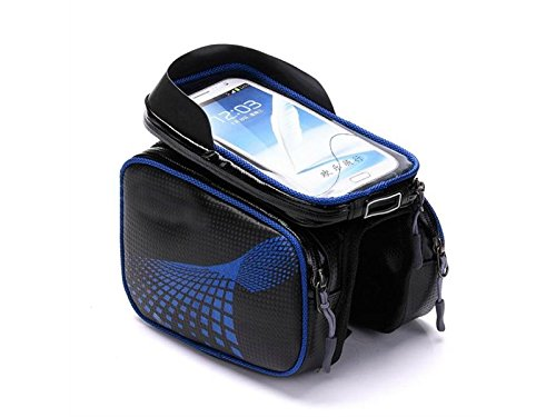 OVIIVO Bike Creative Waterproof Cycling Tube Pack Touchscreen Bike Frame Bags Bicycle Handlebars Panniers Phone Bag Pefect for Below 5.8-6.2 inch Smartphone by OVIIVO