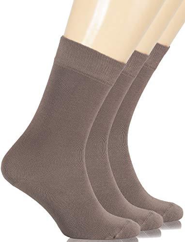 Hugh Ugoli Women's Dress Socks Bamboo Viscose Crew Socks - Light Brown (Shoe size: 9-12)