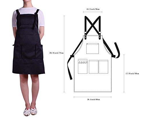 Nanxson Fashion Women Multi Function Working Work Apron with Tool Pockets CF3010 Black by Nanxson (Image #6)