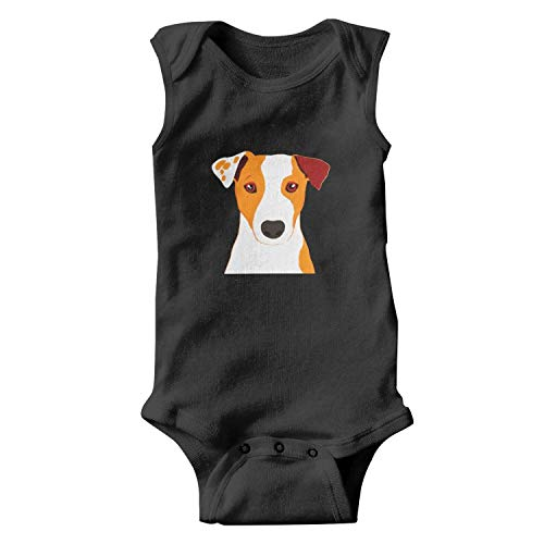 Soua Unisex Tank Top Jack Russell Terrier Dog 'Love You Mum' Coffee Baby Onesies Bodysuit Jumpsuit Waistcoat
