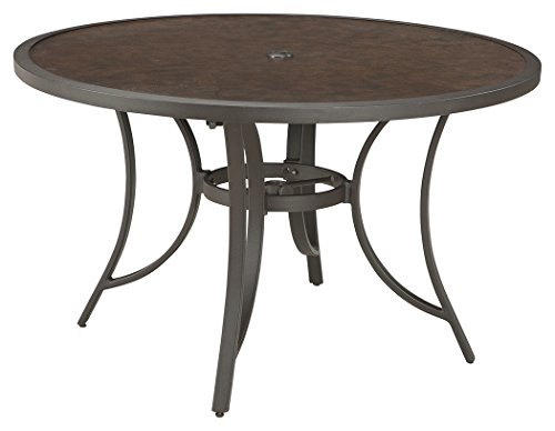 Cheap  Ashley Furniture Signature Design - Carmadelia Round Outdoor Dining Table with Umbrella..