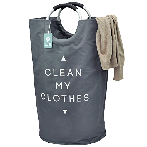 collapsible-college-laundry-bags-for-heavy-duty-use-with-alloy-handles-deep-grey