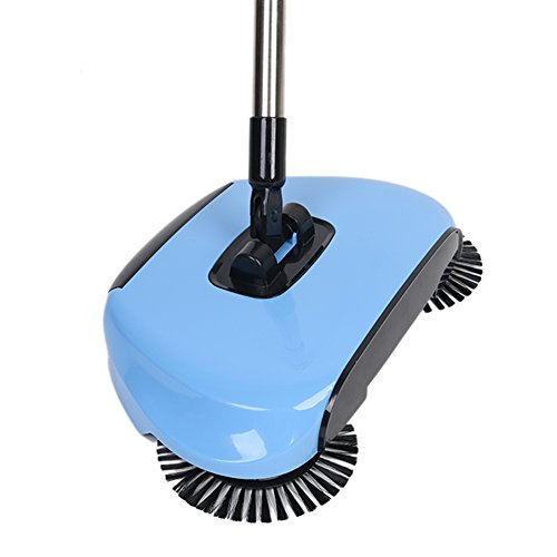 Lazy 3 in 1 Household Cleaning Hand Push Automatic Sweeper Broom – Including Broom & Dustpan & Trash Bin – Cleaner Without Electricity Environmental (Blue) by Dracarys (Image #6)