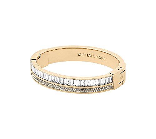 Michael Kors Metallic Pav= Crystal Hinge Bangle Bracelet ()