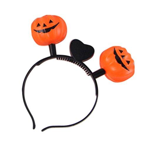 [Euone Halloween LED Pumpkin Skull Light Party Props Headbands Dress up Accessories (F)] (Bright Zebra Halloween Costumes)