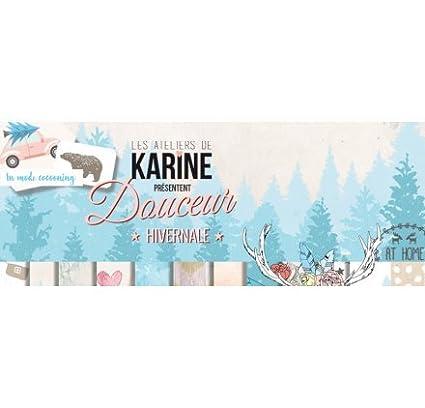 Douceur Hivernale Cerf Boho Chic Tampon bois Les Ateliers de Karine