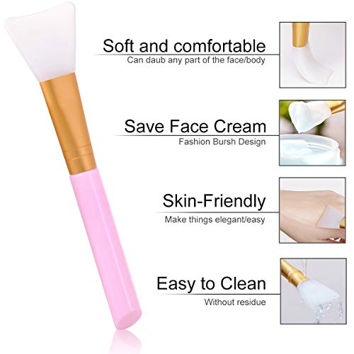 Akstore 3PCS Silicone Face Mask Brush,Mask Beauty Tool Soft Silicone Facial Mud Mask Applicator Brush Hairless Body Lotion And Body Butter Applicator Tools (White)