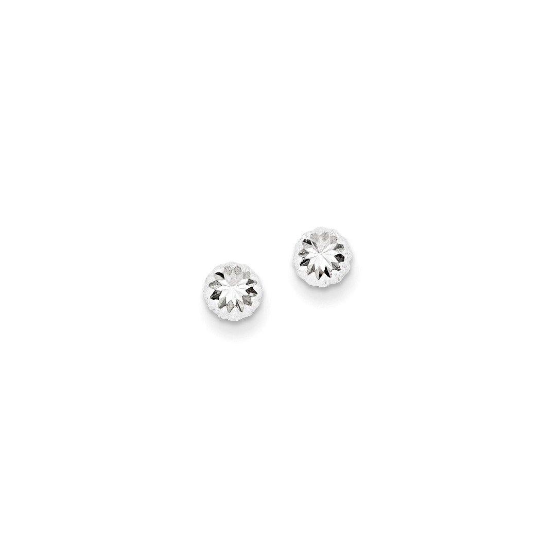 ICE CARATS 14kt White Gold Half Ball Post Stud Button Earrings Fine Jewelry Ideal Gifts For Women Gift Set From Heart