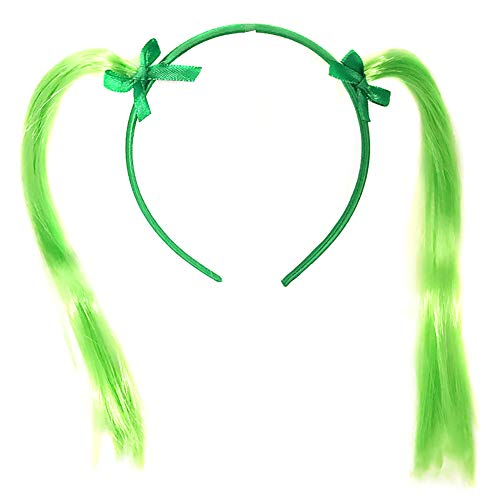 yuye-xthriv Irish St Patrick Day Green Ponytail Head Bopper Headband Party Hair -