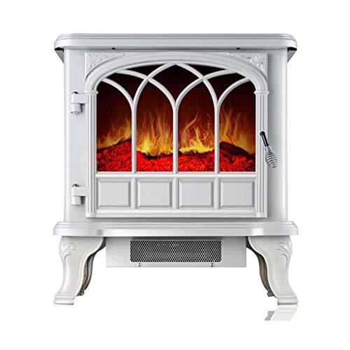 HQCC Área de recreación Independiente calefacción eléctrica Chimenea Calentador Interior, 2000W Llama de combustión...