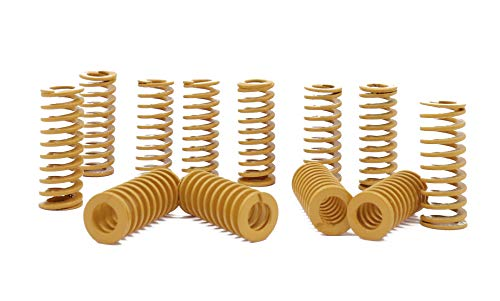 UFelice 8mm OD Die Spring 20mm Long Light Load Compression Mould Coil - Yellow (12 Pcs) ()