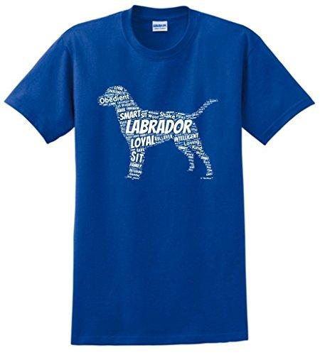 Dog Clothes Labrador Retriever Word Art Dog Puppy Owner Gift T-Shirt Small Royal