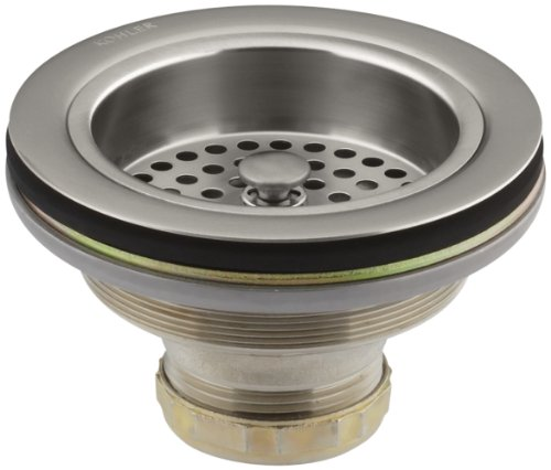 (KOHLER K-8799-VS Duostrainer Sink Strainer, Vibrant Stainless)
