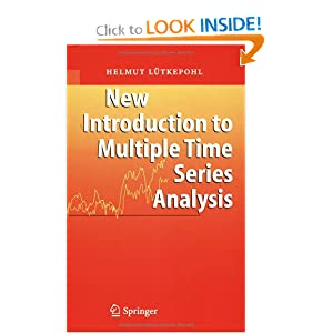 New Introduction to Multiple Time Series Analysis Helmut Lutkepohl