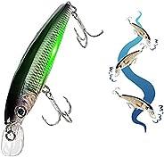 Electric Fishing Bait Rechargeable LED Minnow Fishing Lure Lifelike Swimbait Luminous Hard Bait White