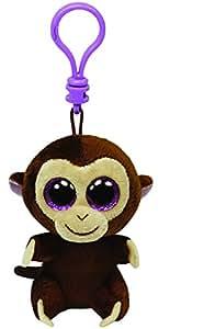 Ty 36501 TY Beanie Boos - Llavero de mono de peluche, color Marrón