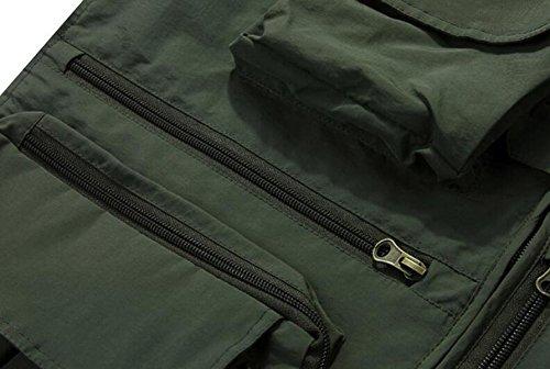 Al Chalecos Bolsillos Hombres Chaquetas De Libre Tácticos marrón Impermeables Aire Los Múltiples De EOAq1d