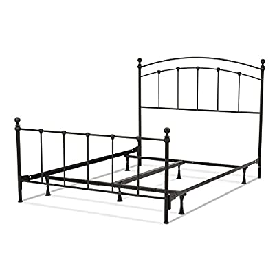 Fashion Bed Group Sanford Bed with Metal Panels and Round Finial Posts