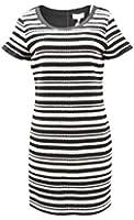 AMY MATTO Womens SERENA Textured Knit Shift Dress Black/White 230132-F