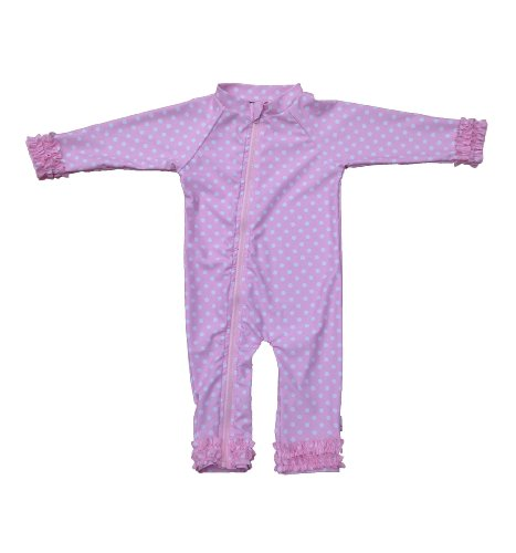 SwimZip Baby Girl Long Sleeve Sunsuit with UPF
