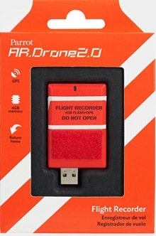 Parrot AR.DRONE 2.0 Flight Recorder: GPS, 4GB, return to ...