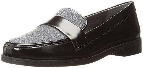 Franco Sarto Women's L-Valera Slip-On Loafer, Black, 9 M US (Franco Sarto Patent Leather Shoes)