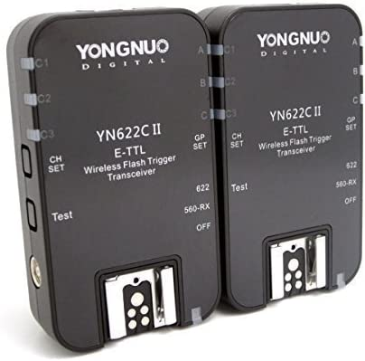 Yongnuo YN-622C II Wireless TTL E-TTL Flash Trigger Flash Disparadores Wireless Flash Radio Transmisor-receptor inalambrico para Canon + WINGONEER® difusor