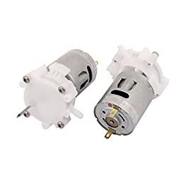 uxcell 2 Pcs DC 12V RPM4540 Micro Air Pump Motor for Aquarium Fish Water Tank DIY
