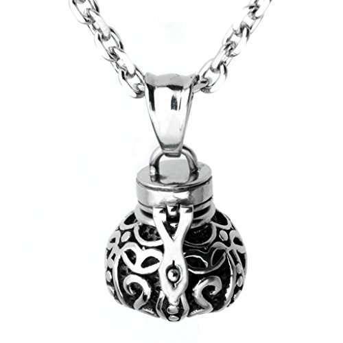 Stainless Cremation Memorial Necklace Keepsake