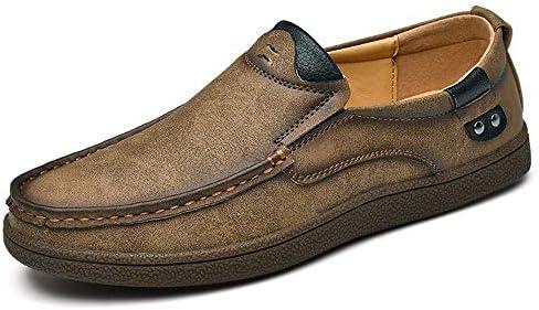 男性の靴モカシン快適なスリップオンオフィスビジネスドレスフォーマル男性の靴人格ステッチラウンドつま先のための運転夏の本革ローファー