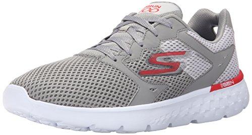 Skechers Performance Men's Go Run 400 Running Shoe, Light Gray/Red, 9.5 M US