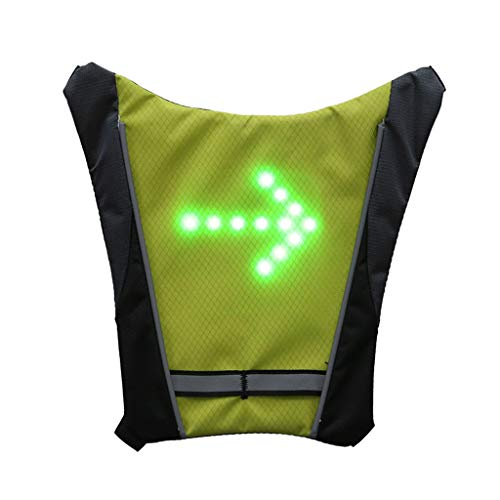 Cycling Bicycle LED Wireless Safety Turn Signal Light Vest Riding Night Guiding ()